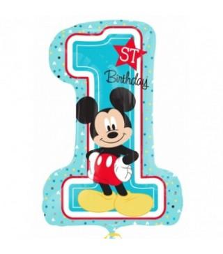 Шарик цифра 1 (71см) Микки Маус