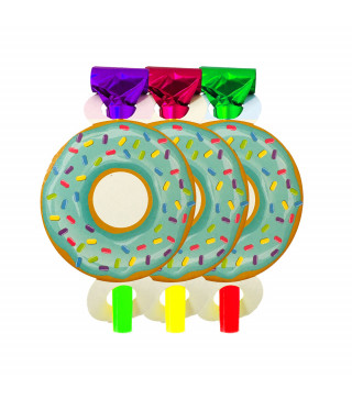 Язичок-гудок Happy Birthday Пончик 6шт/уп