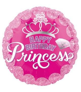 Шарик фольгированный Happy Birthday Princess
