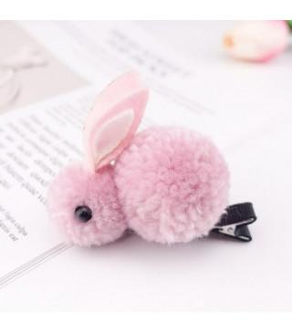 Заколка зайчик розовый