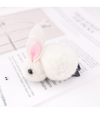 Заколка зайчик белый