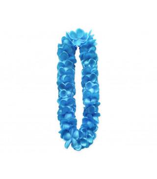 """Леї гавайські сатинові """"Блакитні"""" пластмаса, тканина 11626 Godan"""