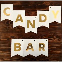 Декорація Гірлянда прапорці Candy Bar папір. поліестер F-90436