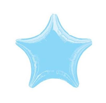 Шарик фольгированный Звезда голубая