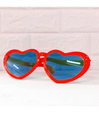 Окуляри Гиганти серце Червоні пласмаса 1088 Китай