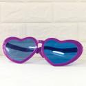 Очки гиганты фиолетовые Сердечки