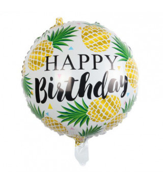 "Кульки фольг з малюнк. "" Happy birthday"" Ананаси (2,5г) 2151065 Китай"