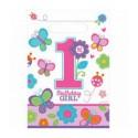 Подарочные пакеты 1-st Birthday girl 8шт/уп