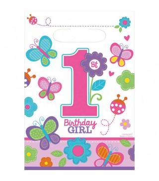 Подарункові пакети 1-st Birthday girl 8шт/уп
