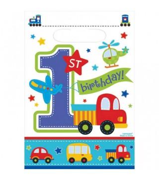 Подарочные пакеты 1-st Birthday boy 8шт/уп