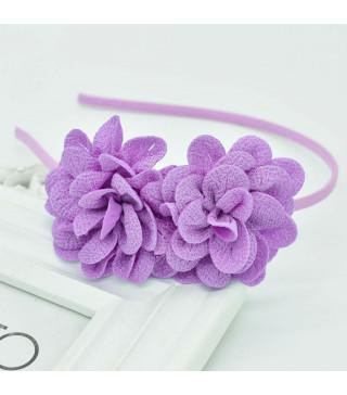 Обруч Цветы фиолетовые