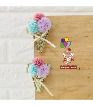 Заколка для принцес морозиво ріжок фетр Z-0058 Китай