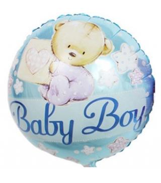 Кульки фольг з малюнк. Baby Boy теді блакитний 215140 Китай