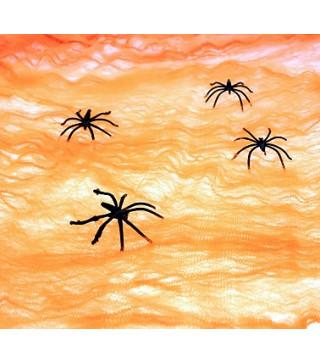 Паутина оранжевая с пауками
