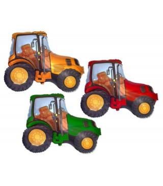 Кульки фігур. Трактор помаранчевий/червоний(4п) 901681 FlexMetal