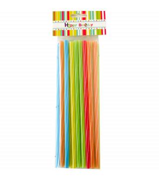 Трубочки для коктейля цветные 25шт / уп