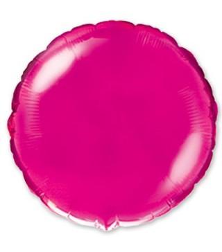 Шарик фольгированный Круглый розовый