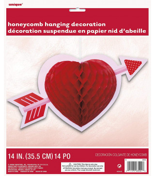 Декорація Декор Серце з стрілою 35,5см папір 63440 Unigue