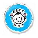 Шарик фольгированный Baby boy