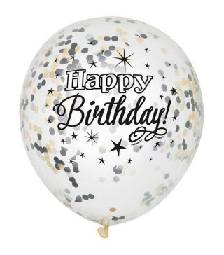 Набір кульок Happy Birthday з конфеті