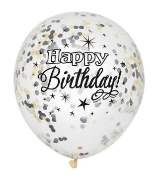 Набор шариков Happy Birthday с конфетти