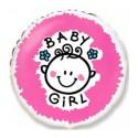 Шарик фольгированный Baby girl