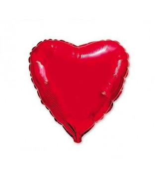 Шарик фольгированный Сердце красное мини 23см