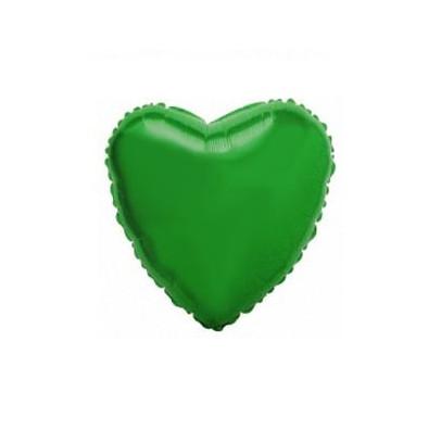 Кульки фольг.б/м СЕРЦЕ  міні Зелене фольга 202500(VE) Італія