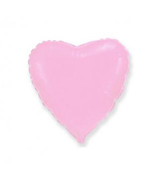Шарик фольгированный Сердце розовое мини 23см