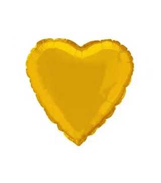 Шарик фольгированный Сердце золотое мини 23см