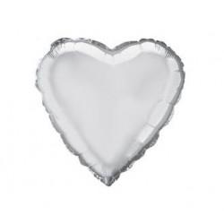 Кульки фольг.б/м СЕРЦЕ міні  Срібне фольга 202500(P) FlexMetal
