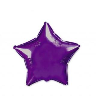 Кульки фольг.б/м ЗІРКА середня Фіолетова фольга 302500(V) FlexMetal