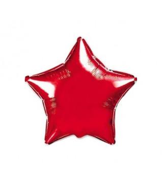 Шарик фольгированный Звезда красная мини 23см
