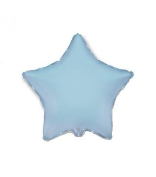 Шарик фольгированный Звезда голубая мини 23см