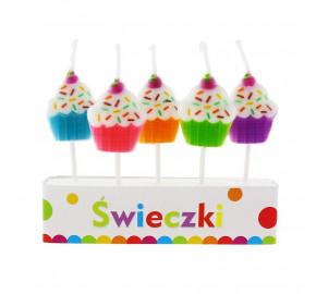 Свічки в торт з фігурками, буквами